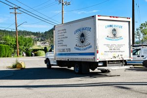Living Water - Commercial Plumbing Kelowna - Truck Back View