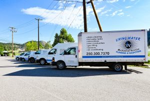 Living Water - Commercial Plumbing Kelowna - Vehicles Lined Up and Parked